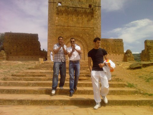 Moi et Mon cousin et mon ami à Mansoura