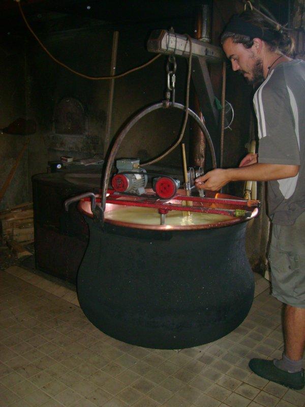 Vacances 2012 - La fabrication du fromage