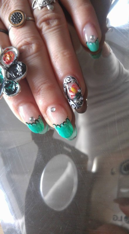french acryl nails