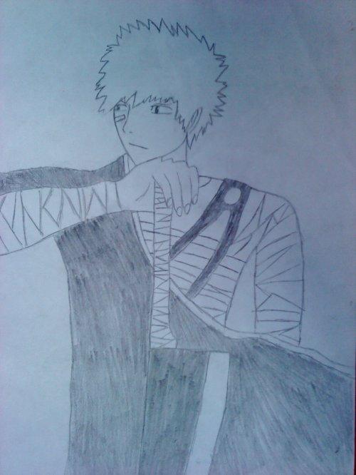 mon 1er dessin de ichigo