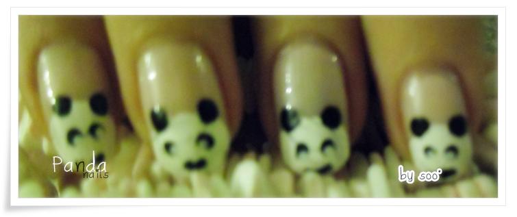 ~ Panda Nails ! ❥ :3 ~