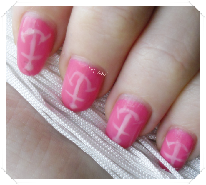 ~ Ongles marins roses ! ~