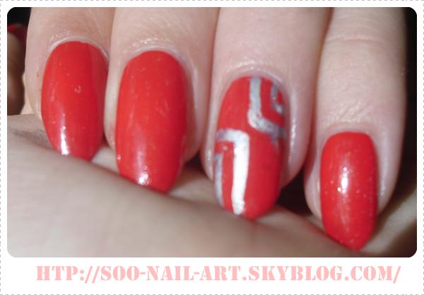 ~ Accent nail en rouge ~