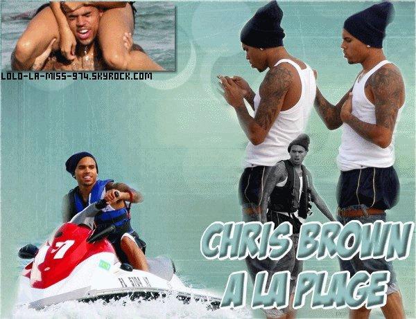Chris Brown était hier (Mardi o7 Septembre 2o1o) à la plage de Miami Posté le: o8/o9/2o1o