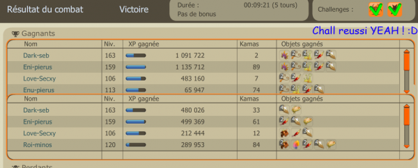 Xp de la team + capture DC yeah ! :D