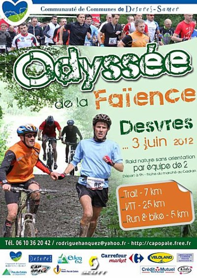 Résultats 6ème Odyssée de La Faïence - Dimanche 03 Juin 2012