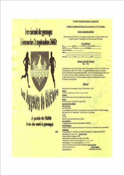 1er Circuit de Guemps - Dimanche 02 Septembre 2012