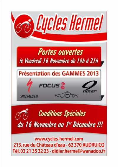 Offre promotionnelle Cycles HERMEL