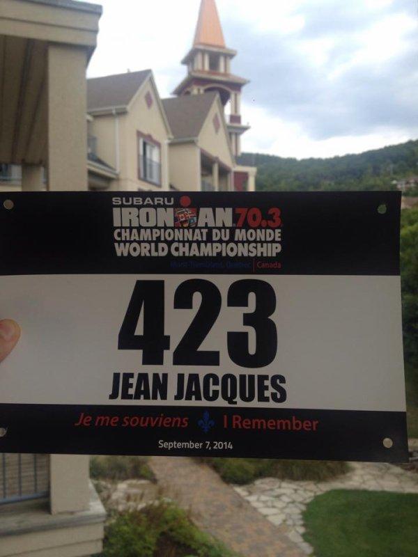 Jean Jacques aux championnats du monde d'Iron Man 70.3 !