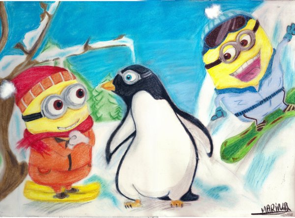 Minions & Pingouin