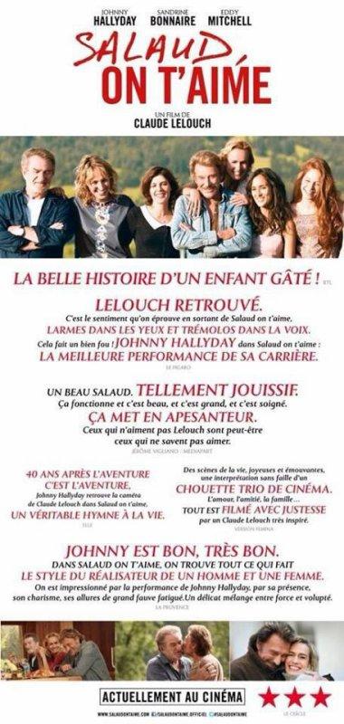 """""""Salaud on t'aime est 4eme du Box office France"""" avec 190 107 entrées"""