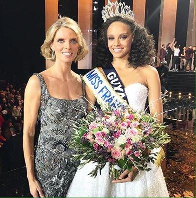COURONNEE - Alicia Aylies, Miss Guyane âgée de 18 ans, a été élue Miss France 2017 parmi 30  prétendantes samedi à Montpellier. Fan d'escrime, habituée des podiums depuis l'âge de 16 ans, Alicia, 1,78 m, étudiante en première année de droit, a devancé,  Miss Languedoc, première dauphine, Miss Tahiti, deuxième dauphine, et Miss  Guadeloupe et Miss Lorraine.
