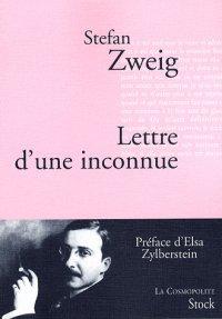 Lettre d'une inconnue, Stefan Zweig, La Cosmopolite, Stock