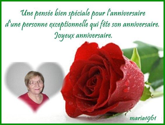 Meilleurs Voeux Et Bon Anniversaire Pour Mon Amie Christiane Beaute