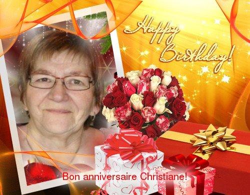 Bon annivesaire a mon amie Christiane(Jannela)