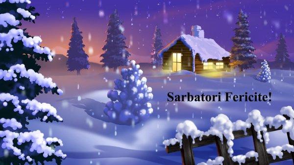 Sarbatori fericite!  Bonnes fêtes de fin d'année !