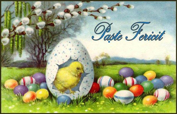 Je vous souhaite de bonnes et joyeuses fêtes de Pâques. Paste fericit!