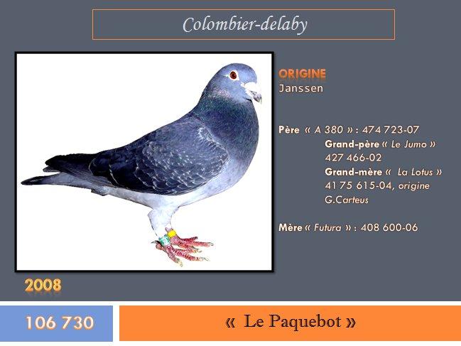 """"""" Le Paquebot """", bague n° 106 730-08"""