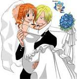 Nami et Sanji de one piece