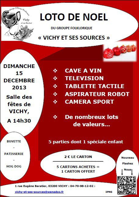 """Loto de Nöel du Groupe Folklorique """" Vichy Et Ses Sources"""""""