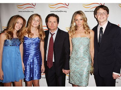 Michael j fox-Michael et sa famille