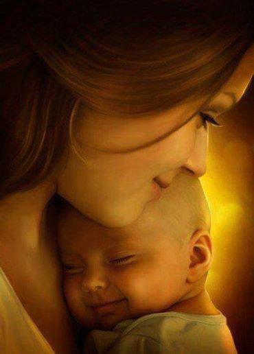 Il n'y a pas de plus belle que la tendresse d'une mère