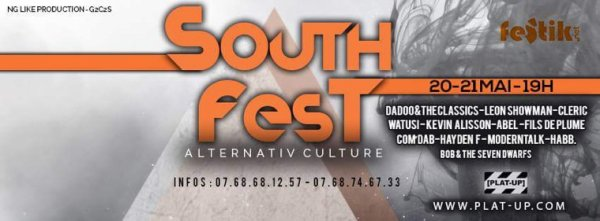 SOUTH FEST #1 Alternativ' Culture 20 & 21 Mai