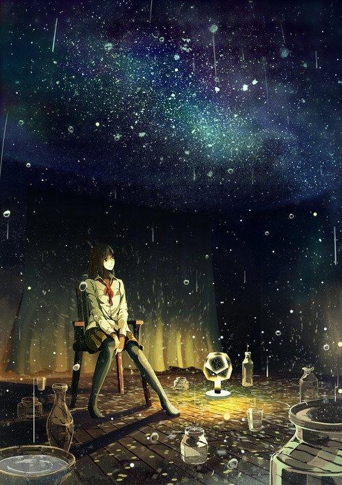 Même si on arrivait à allonger le bras suffisamment pour écarter les nuages,              Traverser le ciel et toucher Mars et la lune... Même ainsi on ne parviendrait pas à toucher la vérité.