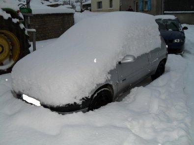 ma petite saxo avec la neige