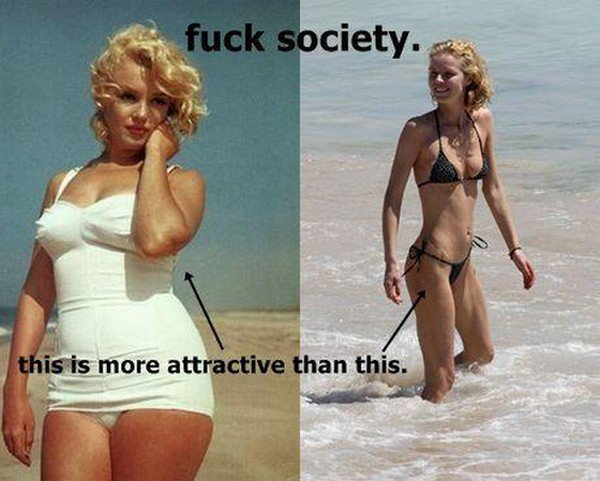Ces photos rendent malade une quantitée immense de personnes dans le monde, qui ont le besoin de ressembler a ces filles si maigre..
