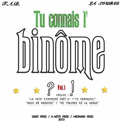 LA TAPE DU BINOME - PROCHAINEMENT