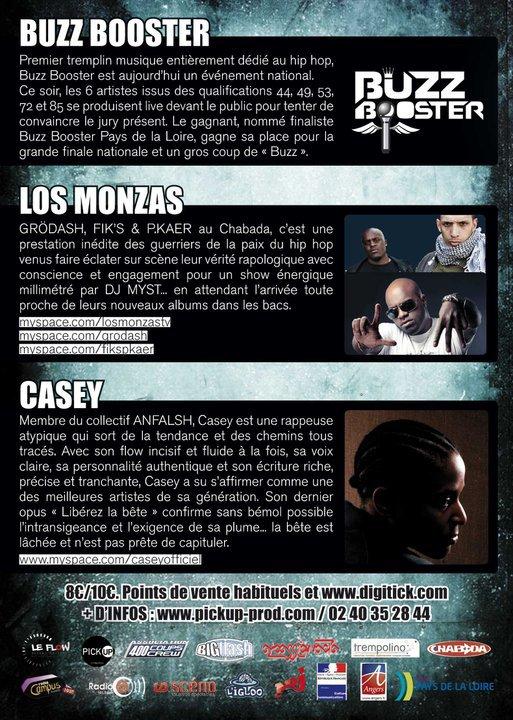 CONCERT LOS MONZAS (GRÖDASH / FIK'S & P.KAER / DJ MYST)  // CASEY - LE 12 NOVEMBRE 2010 @ LE CHABADA, ANGERS