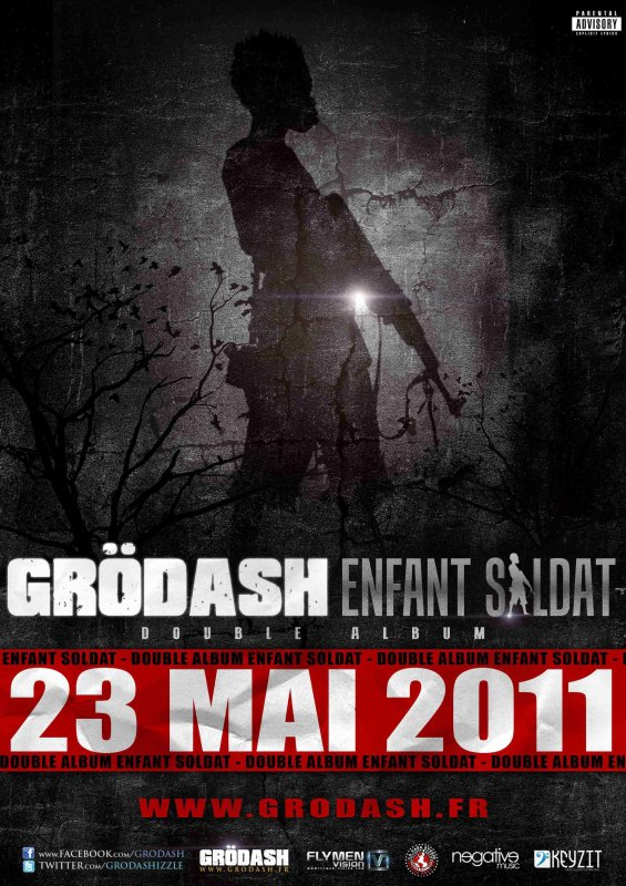"""DOUBLE ALBUM DE GRODASH """"ENFANT SOLDAT"""" DANS LES BACS LE 23 MAI !!"""