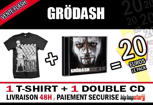 "Pack 1 T-shirt + 1 Double CD "" Enfant Soldat "" = 20e"