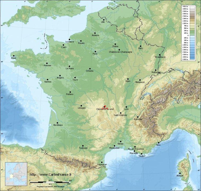 GERZAT / Environ 530 kms.