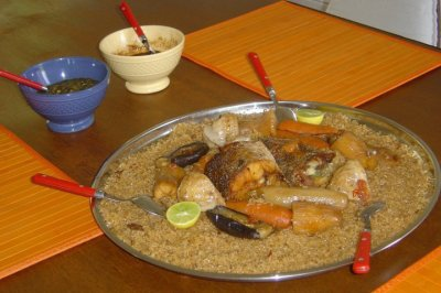 plat national du senegal :thiebou dieune