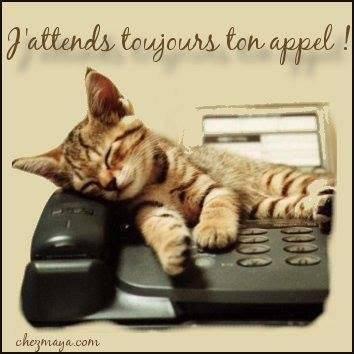 J'attends toujour ton appel !