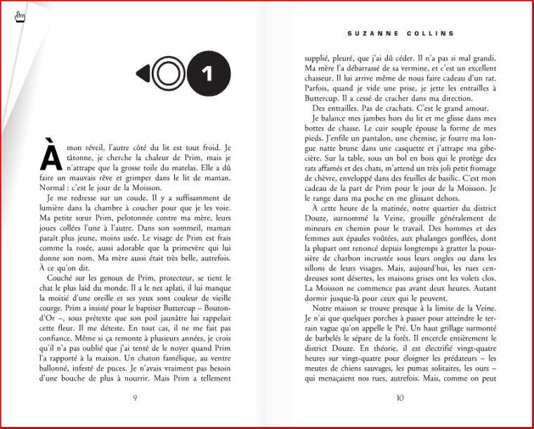 EXCLUSIF ! Le livre Hunger games 1 (les 20 premières pages !)