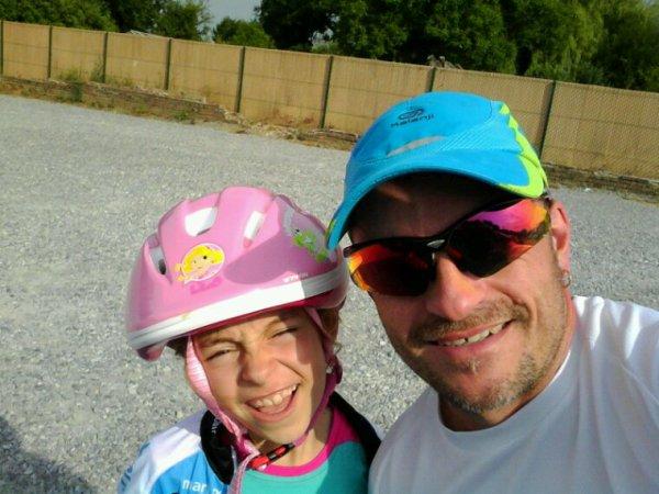 Entraînement jogging du mardi (avec Léa en vélo)