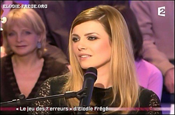 """ELODIE FREGE INVITEE SUR LE PLATEAU DE """" ON A TOUS ESSAYÉ """" SUR FRANCE 2 , LE 4 JANVIER 2007 ( 5 et fin )"""