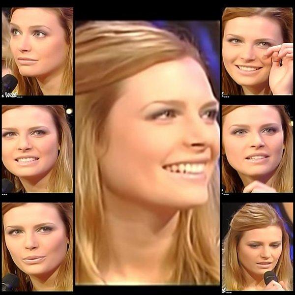 """ELODIE FREGE INVITÉE SUR LE PLATEAU DE EUROPE 2 TV POUR L'EMISSION """" IN LIVE WITH """" , LE 22 JANVIER 2007 ( 1 )"""