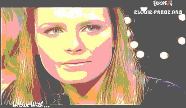 """ELODIE FREGE INVITÉE SUR LE PLATEAU DE EUROPE 2 TV POUR L'EMISSION """" IN LIVE WITH """" , LE 22 JANVIER 2007 ( 4 )"""