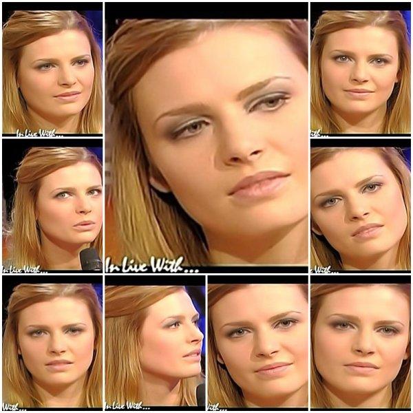 """ELODIE FREGE INVITÉE SUR LE PLATEAU DE EUROPE 2 TV POUR L'EMISSION """" IN LIVE WITH """" , LE 22 JANVIER 2007 ( 5 )"""