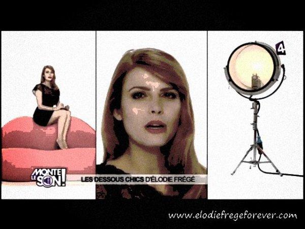 """EMISSION TÉLÉ D'ÉLODIE FREGE SUR FRANCE 4 : """" Les dessous chics d'Elodie Frégé : """" La première fois """""""