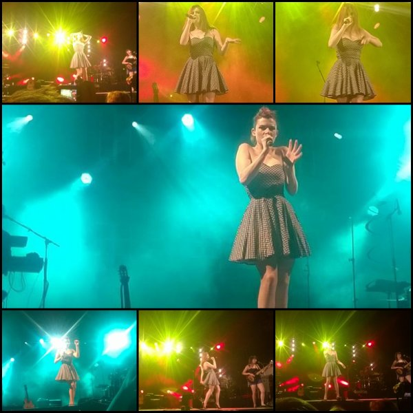 """ELODIE FREGE EN CONCERT AU FESTIVAL DE CARCASSONNE : """" UNE PLAGE """" ( CHANSON DE SON ALBUM AMUSE BOUCHES ) LE 29 JUILLET 2014"""