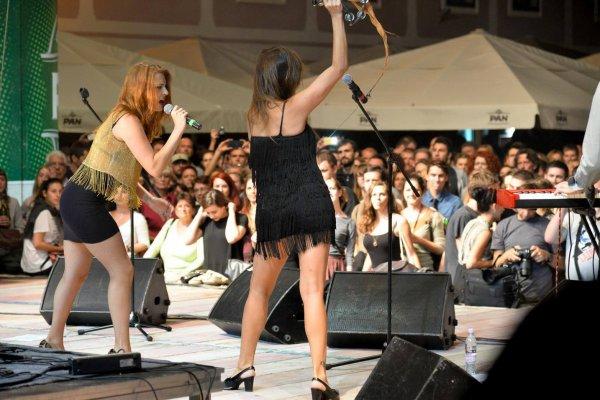 Zagreb (Croatie) concert élodie frégé et le groupe Nouvelle Vague Festival ¦pancirfest 21 Août 2015