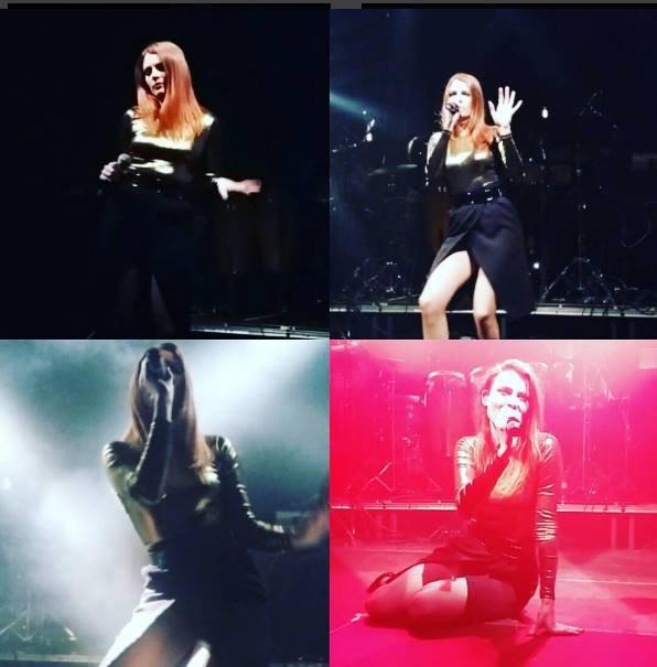 elodie frégé en concert a Vienne en Autriche le 29 novembre 2016 et le concert a zurich en Suisse le 4 décembre 2016