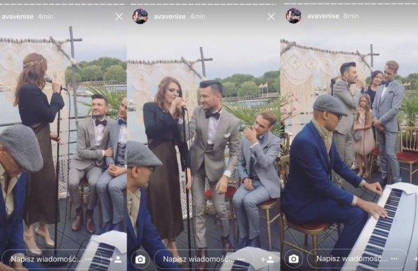 Elodie frege au mariage de son ami Michal le 29 juillet 2017