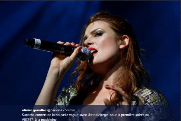 Concert de Elodie Frégé le 6 août 2017 à Bruxelles en Belgique ( 3 )