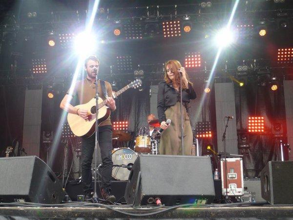 Concert Elodie frégé avec Cyril Mokaiesh a la Courneuve a Paris a la fête de l'humanité le 17 septembre 2017 ( 2 )